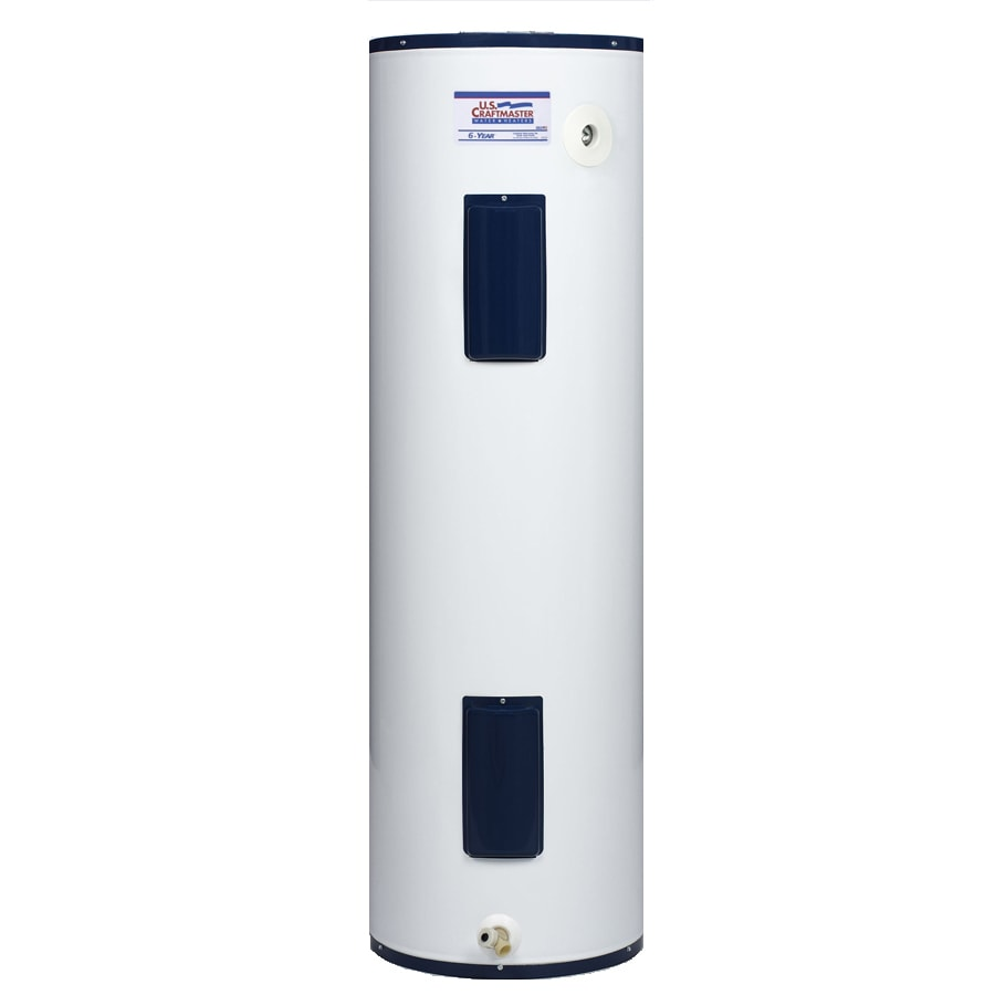 40 gallon 6 year regular electric water heater at