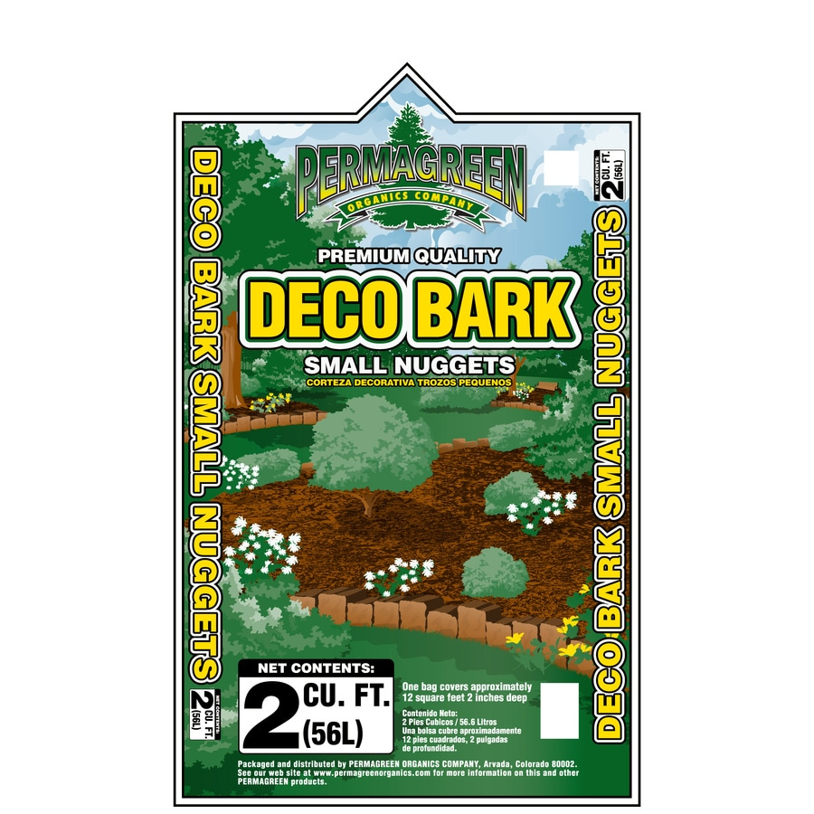 Permagreen 2-cu ft Dark Brown Nuggets Pine Bark Mulch