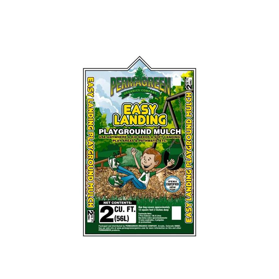 Permagreen 2-cu ft Light Brown/Gold Hardwood Mulch (Playground Certified)