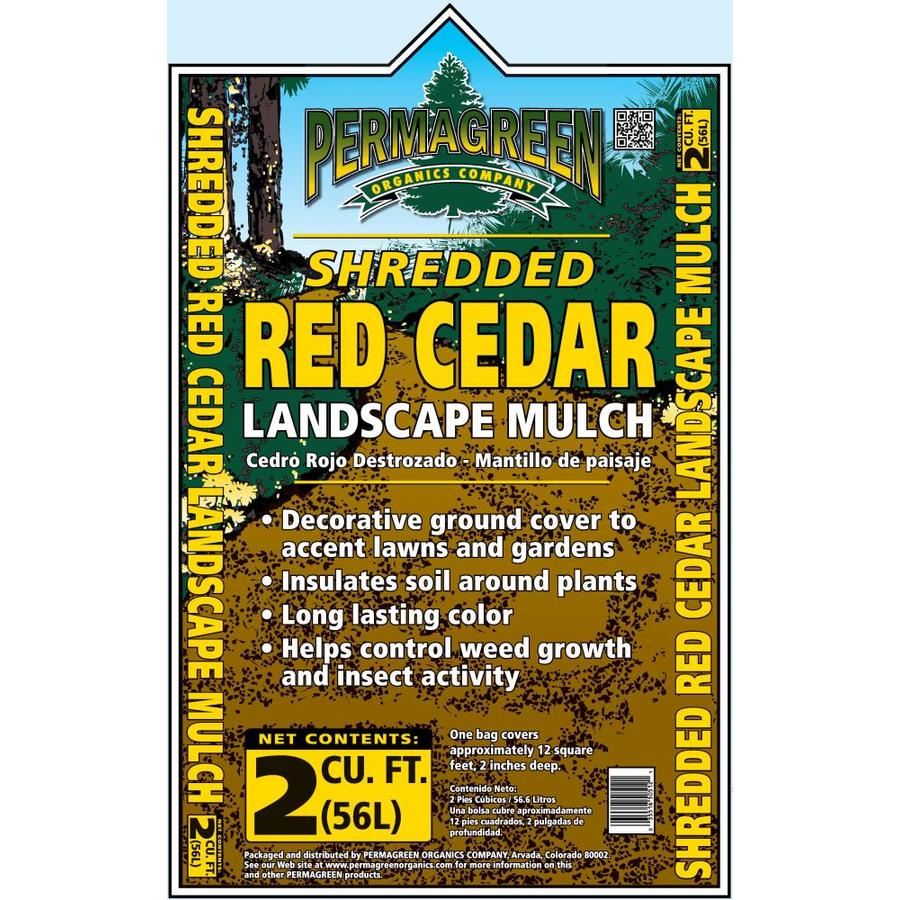 Permagreen 2-cu ft Red Shredded Cedar Mulch