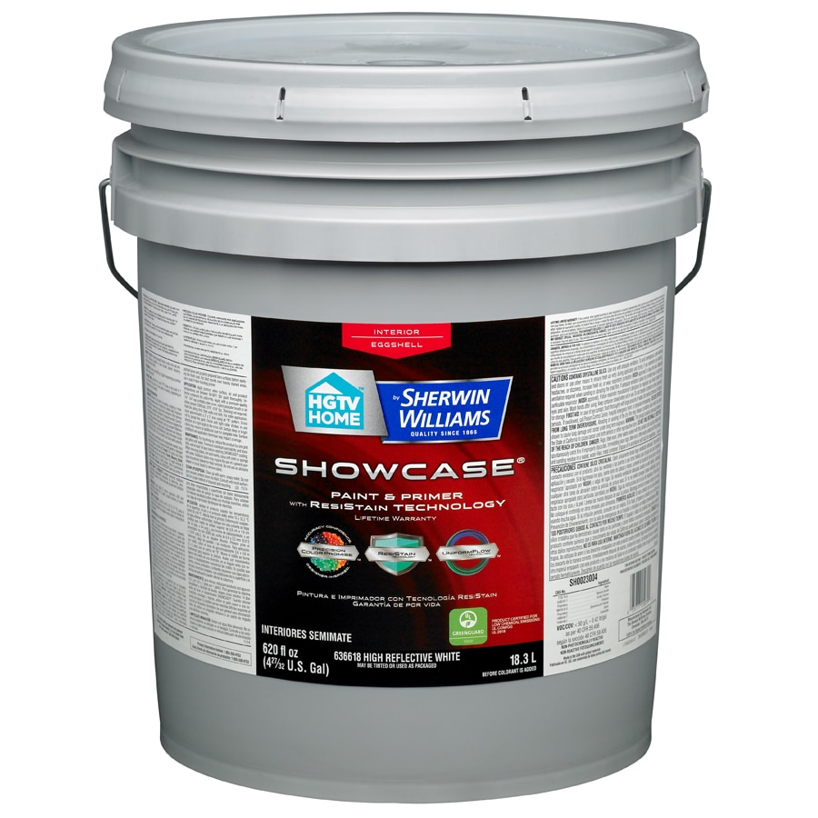 HGTV HOME by Sherwin-Williams Showcase White Eggshell Latex Interior Paint and Primer in One (Actual Net Contents: 620-fl oz)
