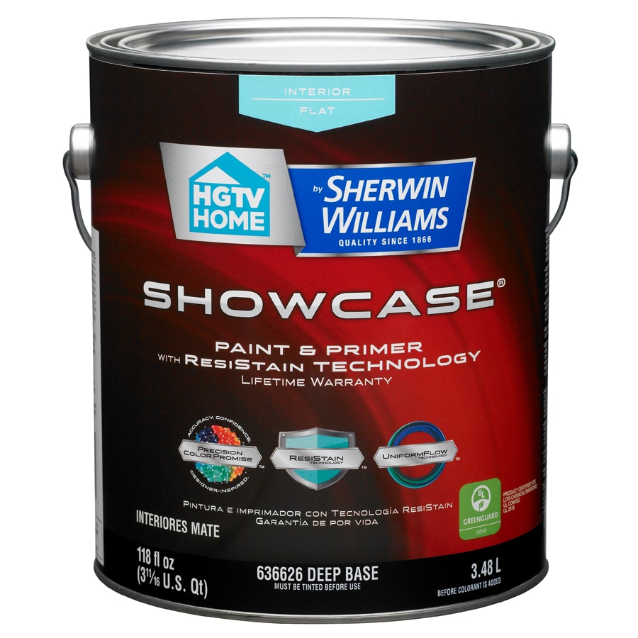 HGTV HOME by Sherwin-Williams Showcase Tintable Flat Latex Interior Paint and Primer in One (Actual Net Contents: 118-fl oz)