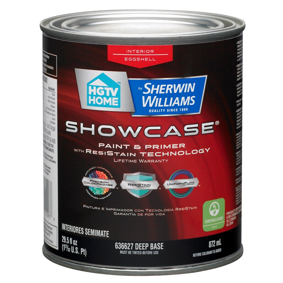 HGTV HOME by Sherwin-Williams Showcase Tintable Eggshell Latex Interior Paint and Primer in One (Actual Net Contents: 29.5-fl oz)