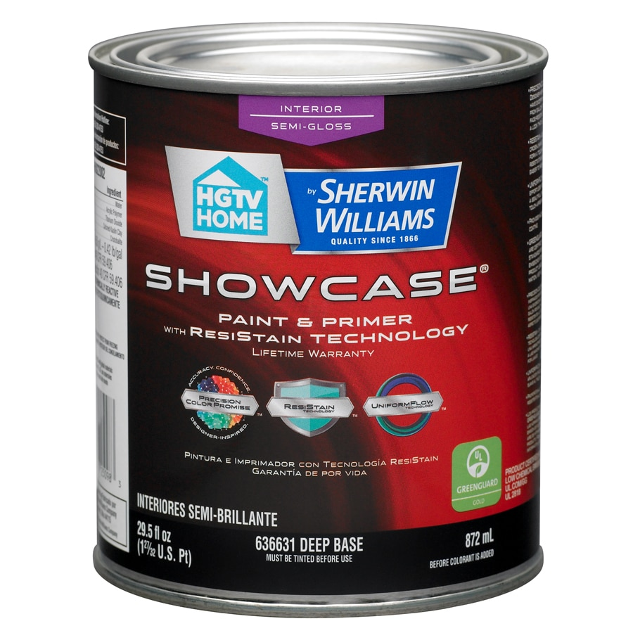 HGTV HOME by Sherwin-Williams Showcase Tintable Semi-Gloss Latex Interior Paint and Primer in One (Actual Net Contents: 29.5-fl oz)