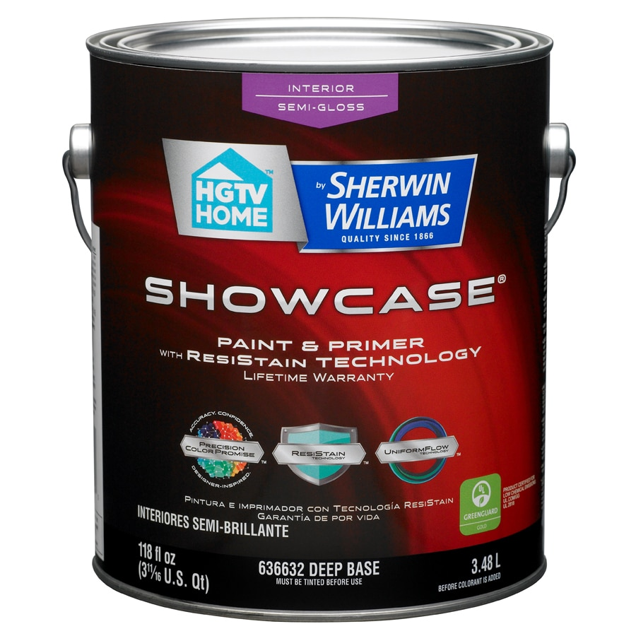 HGTV HOME by Sherwin-Williams Showcase Tintable Semi-Gloss Latex Interior Paint and Primer in One (Actual Net Contents: 118-fl oz)