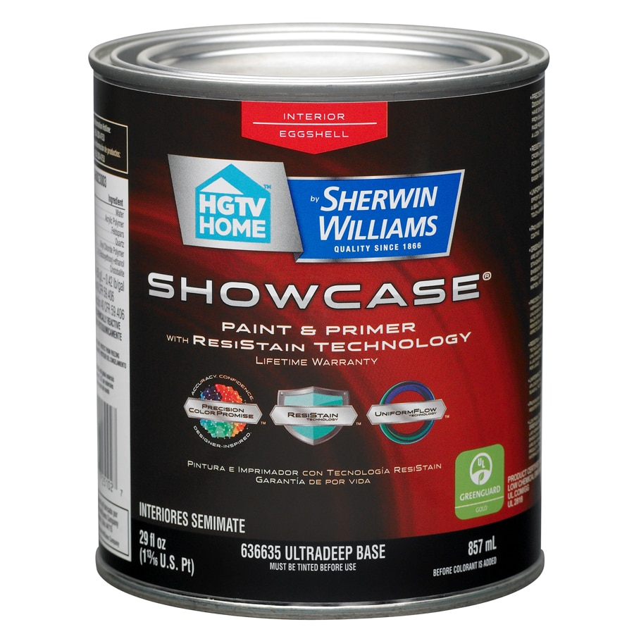 HGTV HOME by Sherwin-Williams Showcase Tintable Eggshell Latex Interior Paint and Primer in One (Actual Net Contents: 29-fl oz)