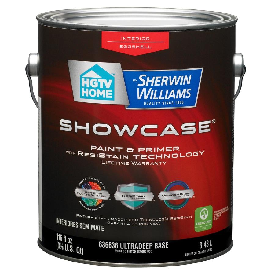 HGTV HOME by Sherwin-Williams Showcase Tintable Eggshell Latex Interior Paint and Primer in One (Actual Net Contents: 116-fl oz)