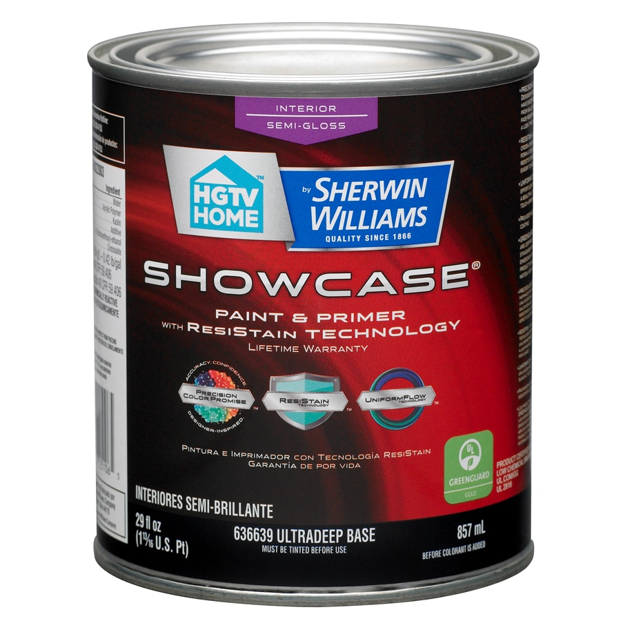 Shop Hgtv Home By Sherwin Williams Showcase Tintable Semi Gloss Latex Interior Paint And Primer