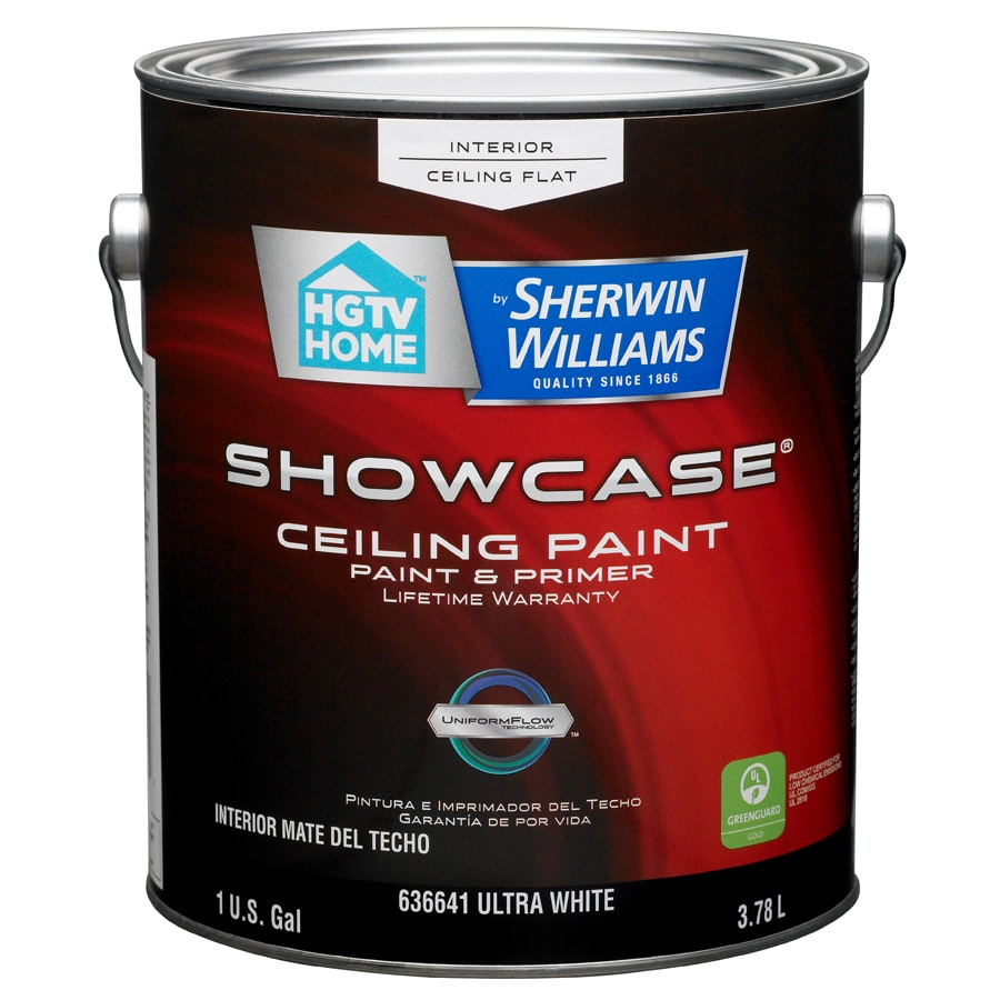 HGTV HOME by Sherwin-Williams Showcase White Flat Latex Interior Paint and Primer in One (Actual Net Contents: 128-fl oz)