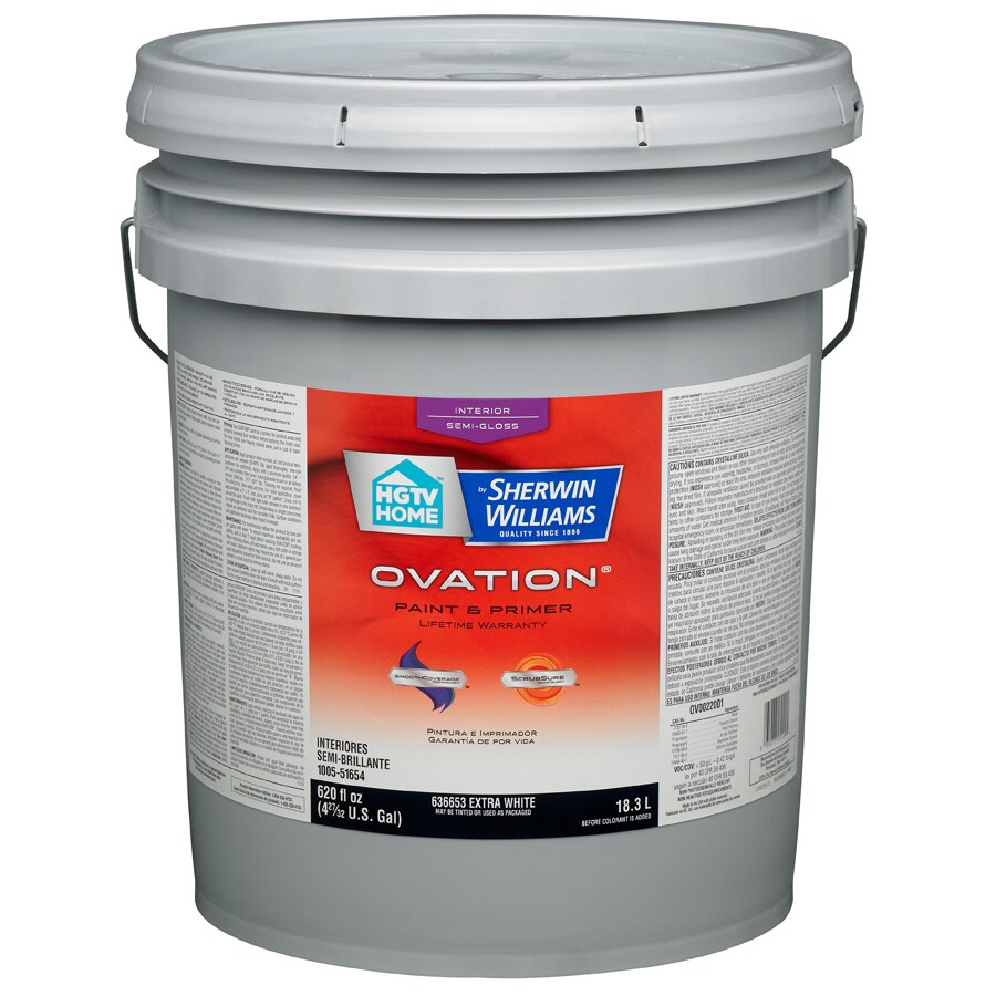 Interior Paint Cost: Shop HGTV HOME By Sherwin-Williams Ovation White Semi