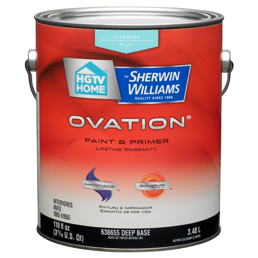 HGTV HOME by Sherwin-Williams Ovation Tintable Flat Latex Interior Paint and Primer in One (Actual Net Contents: 118-fl oz)