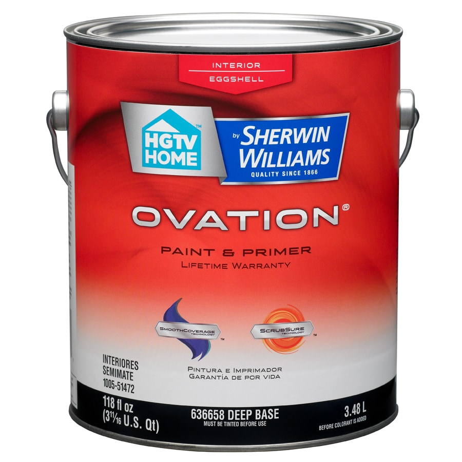 HGTV HOME by Sherwin-Williams Ovation Tintable Eggshell Latex Interior Paint and Primer in One (Actual Net Contents: 118-fl oz)