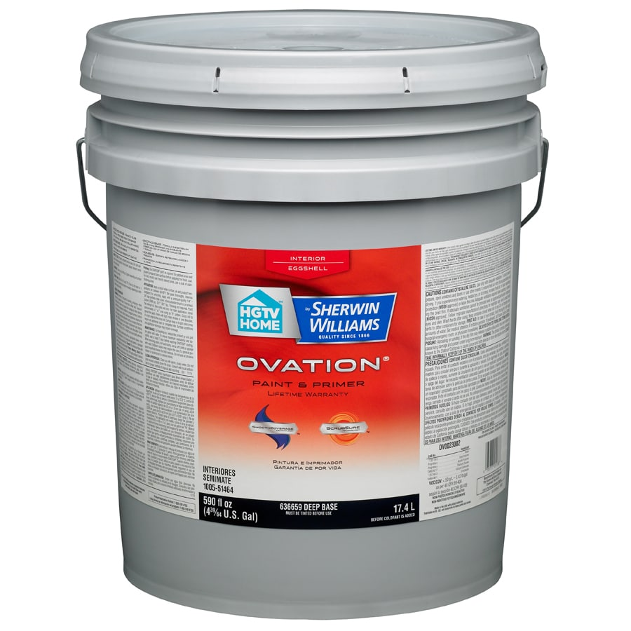 HGTV HOME by Sherwin-Williams Ovation Tintable Eggshell Latex Interior Paint and Primer in One (Actual Net Contents: 590-fl oz)