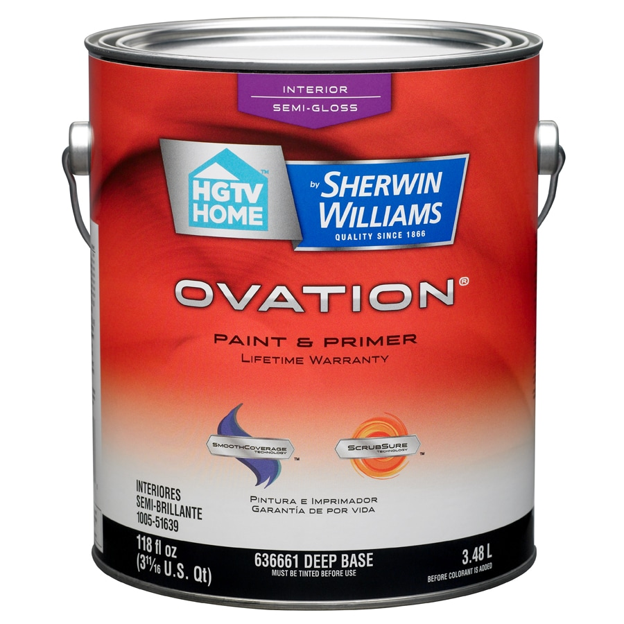 HGTV HOME by Sherwin-Williams Ovation Tintable Semi-Gloss Latex Interior Paint and Primer in One (Actual Net Contents: 118-fl oz)