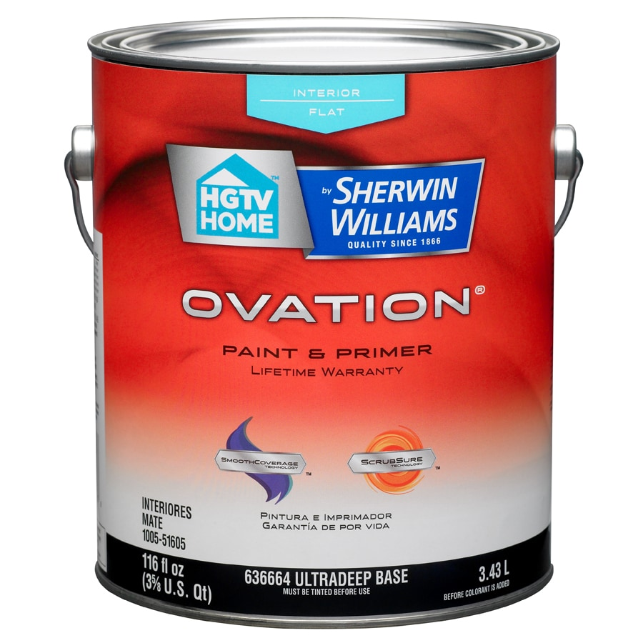 HGTV HOME by Sherwin-Williams Ovation Tintable Flat Latex Interior Paint and Primer in One (Actual Net Contents: 116-fl oz)