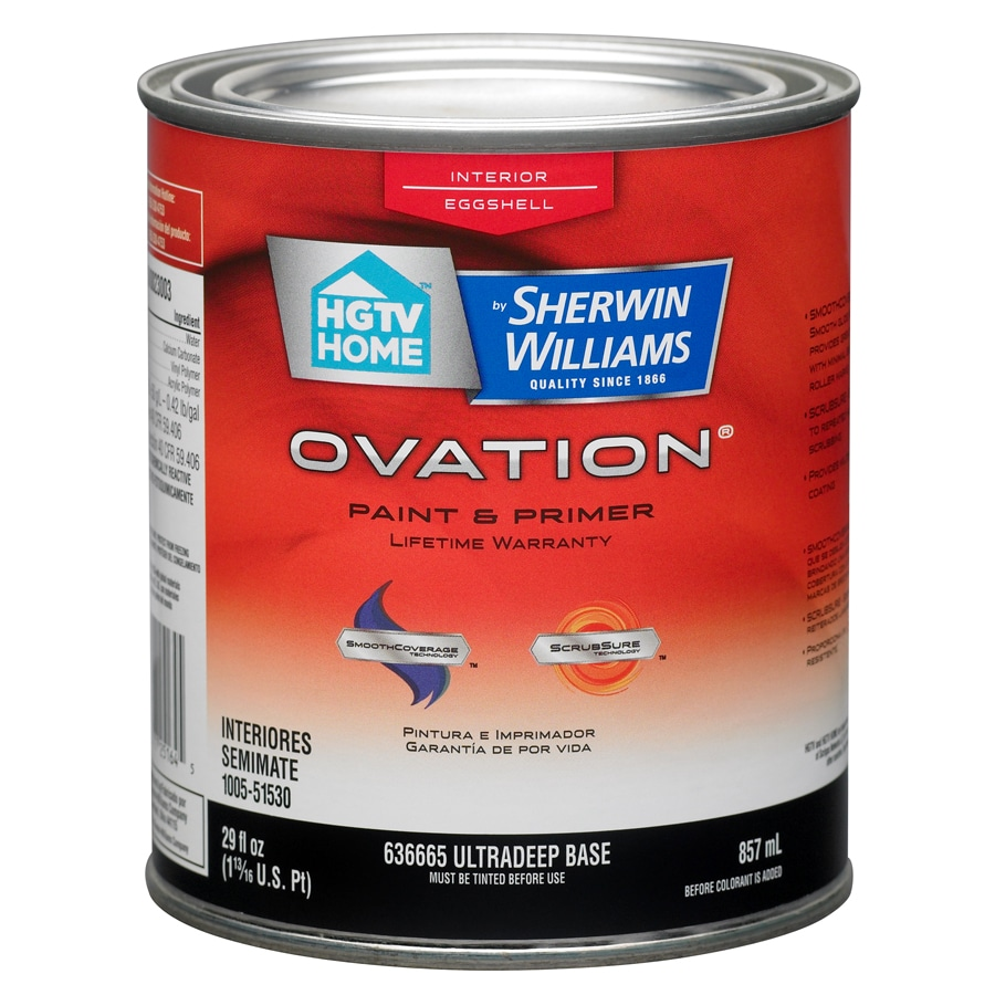 HGTV HOME by Sherwin-Williams Ovation Tintable Eggshell Latex Interior Paint and Primer in One (Actual Net Contents: 29-fl oz)