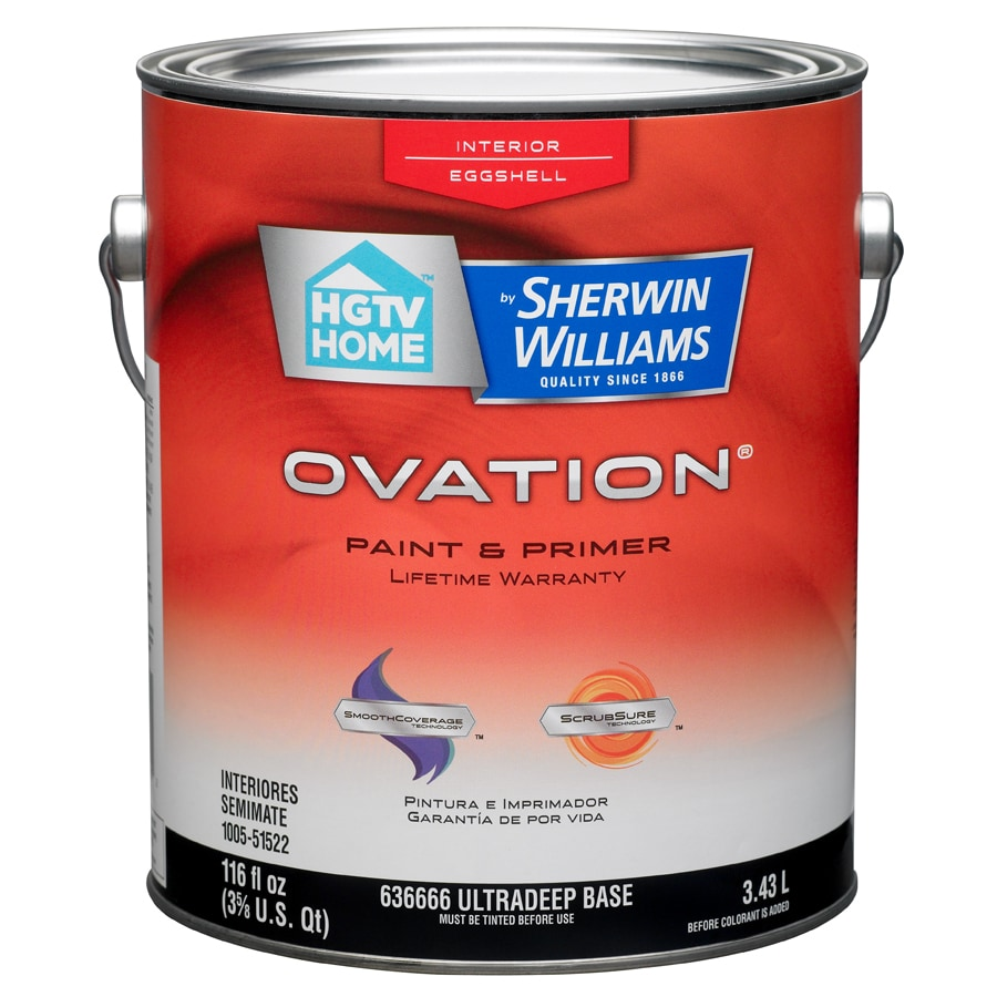HGTV HOME by Sherwin-Williams Ovation Tintable Eggshell Latex Interior Paint and Primer in One (Actual Net Contents: 116-fl oz)