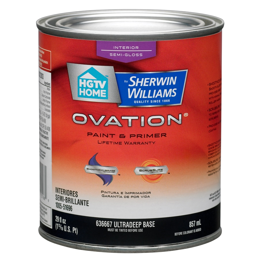 HGTV HOME by Sherwin-Williams Ovation Tintable Semi-Gloss Latex Interior Paint and Primer in One (Actual Net Contents: 29-fl oz)
