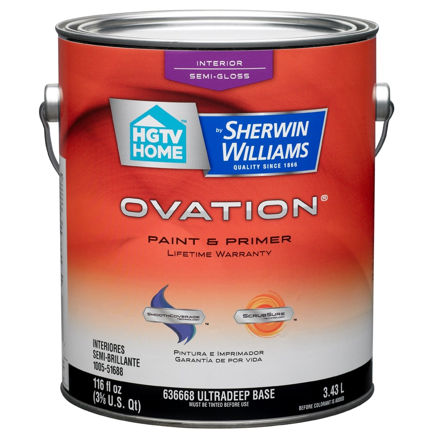 Shop Hgtv Home By Sherwin Williams Ovation Tintable Semi Gloss Latex Interior Paint And Primer