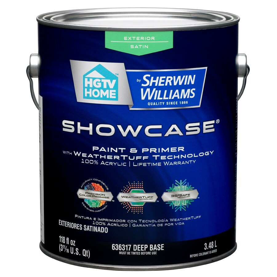 HGTV HOME by Sherwin-Williams Showcase Tintable Satin Latex Exterior Paint (Actual Net Contents: 118-fl oz)