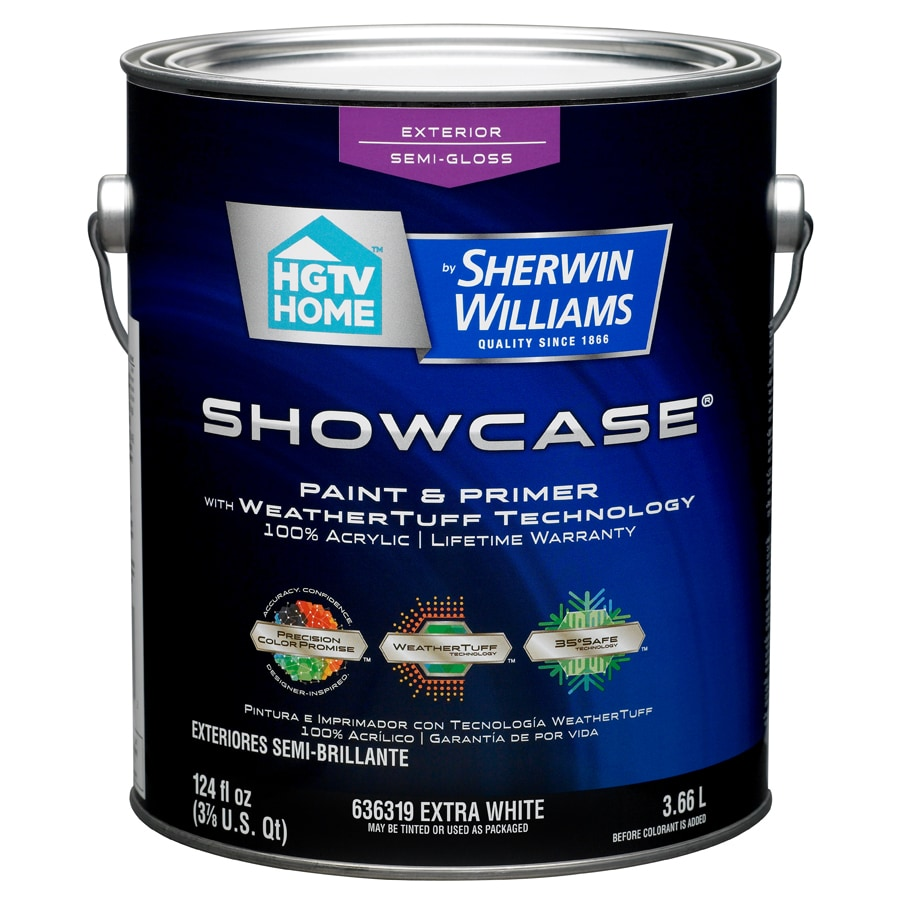 HGTV HOME by Sherwin-Williams Showcase Tintable Semi-Gloss Latex Exterior Paint (Actual Net Contents: 124-fl oz)
