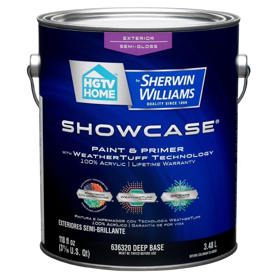 HGTV HOME by Sherwin-Williams Showcase Tintable Semi-Gloss Latex Exterior Paint (Actual Net Contents: 118-fl oz)