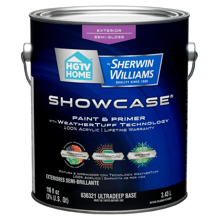 HGTV HOME by Sherwin-Williams Showcase Tintable Semi-Gloss Latex Exterior Paint (Actual Net Contents: 116-fl oz)