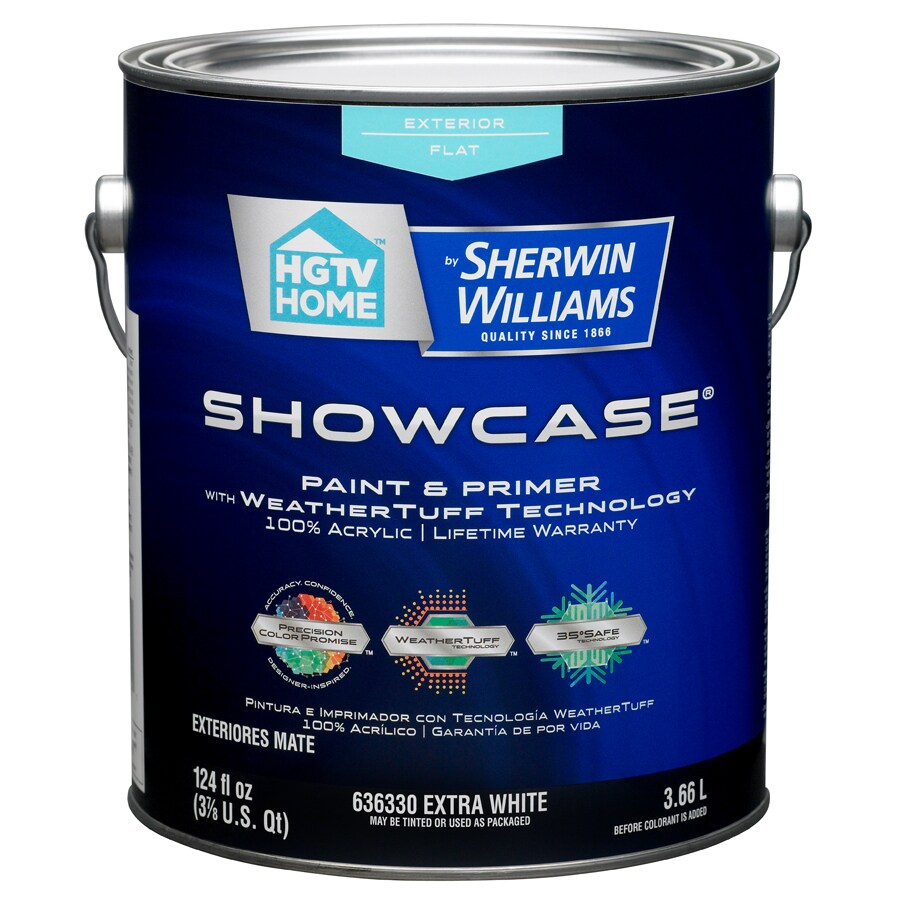 HGTV HOME by Sherwin-Williams Showcase Tintable Flat Latex Exterior Paint (Actual Net Contents: 124-fl oz)