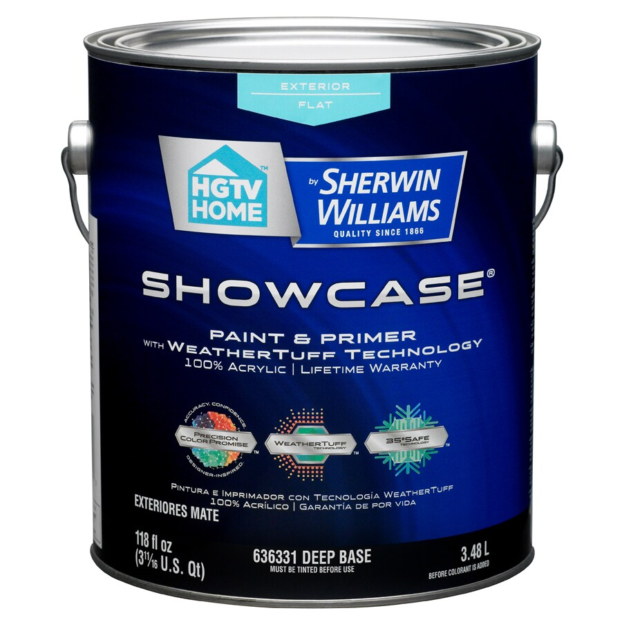 HGTV HOME by Sherwin-Williams Showcase Tintable Flat Latex Exterior Paint (Actual Net Contents: 118-fl oz)