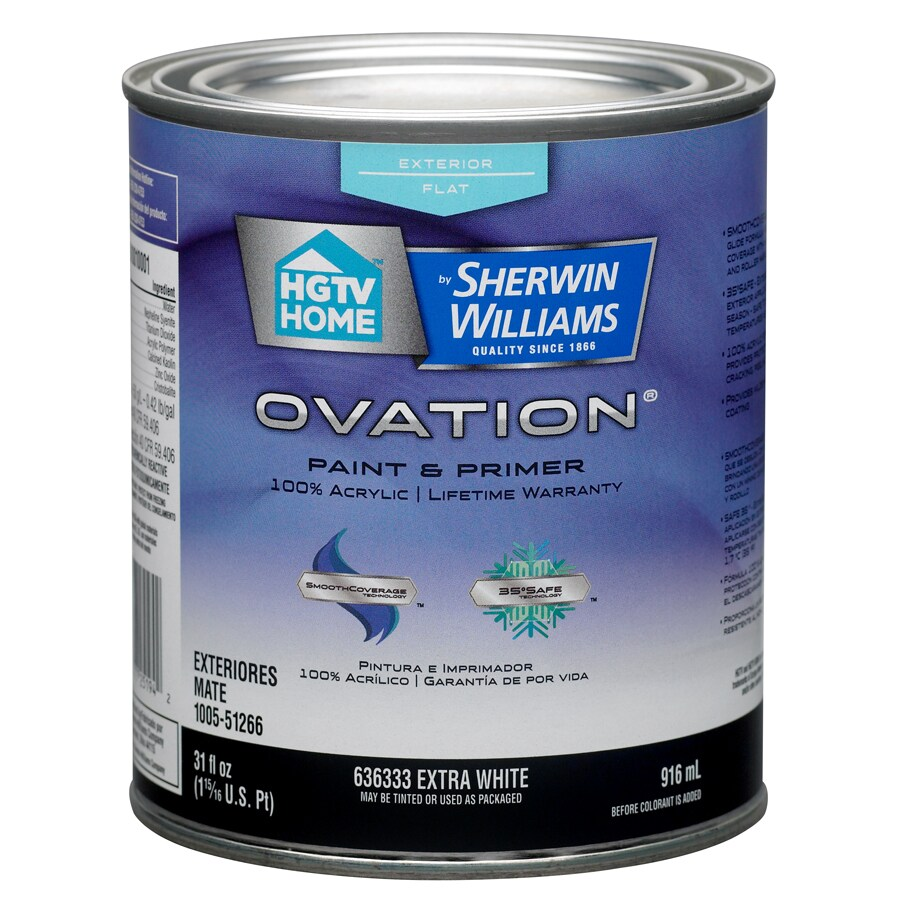 HGTV HOME by Sherwin-Williams Ovation Tintable Flat Latex Exterior Paint (Actual Net Contents: 31-fl oz)