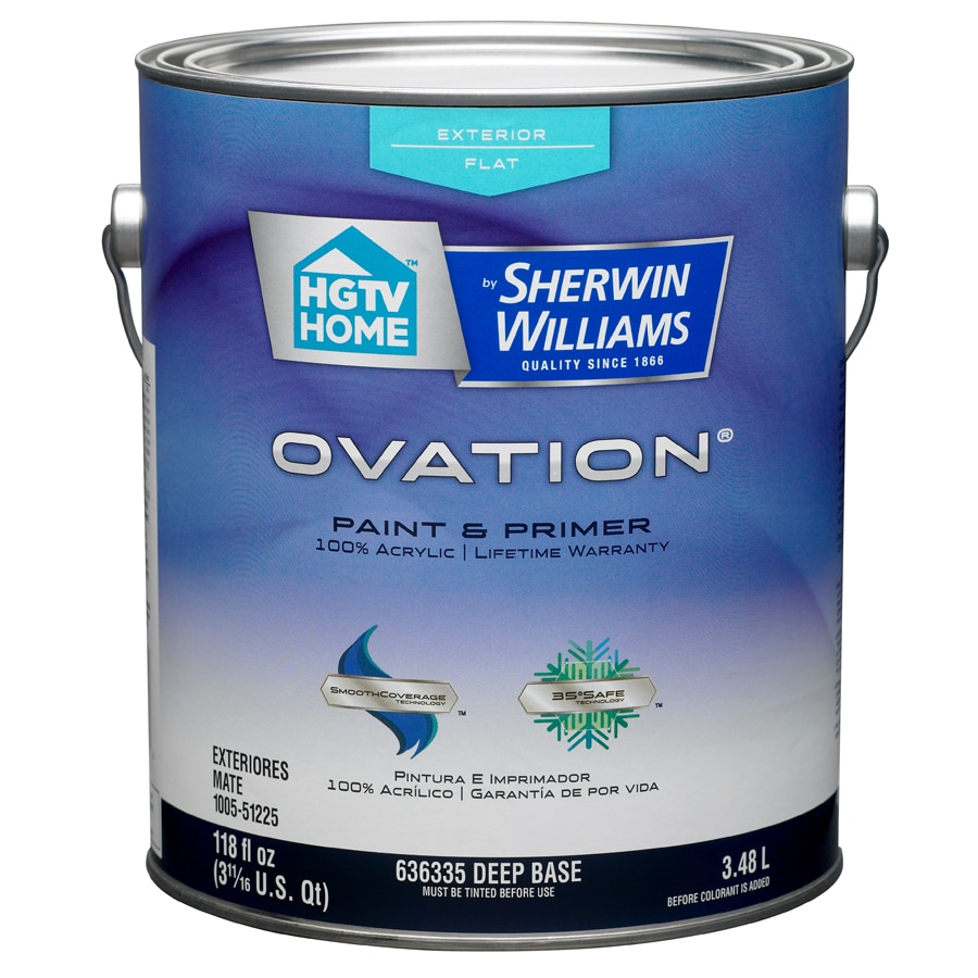 HGTV HOME by Sherwin-Williams Ovation Tintable Flat Latex Exterior Paint (Actual Net Contents: 118-fl oz)