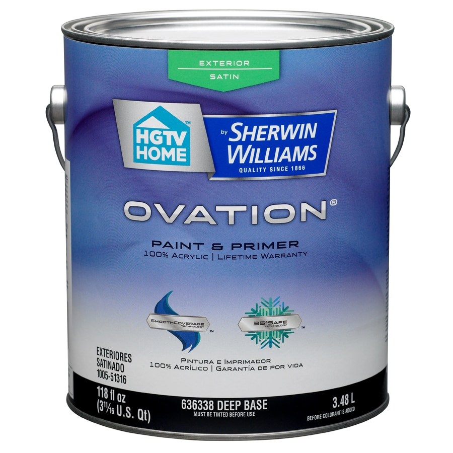 HGTV HOME by Sherwin-Williams Ovation Tintable Satin Latex Exterior Paint (Actual Net Contents: 118-fl oz)