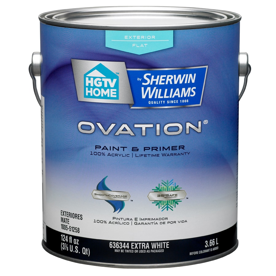HGTV HOME by Sherwin-Williams Ovation Tintable Flat Latex Exterior Paint (Actual Net Contents: 124-fl oz)