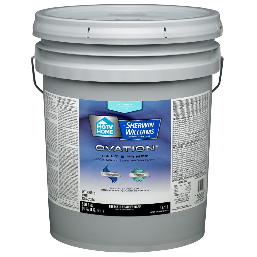 HGTV HOME by Sherwin-Williams Ovation Tintable Flat Latex Exterior Paint (Actual Net Contents: 580-fl oz)