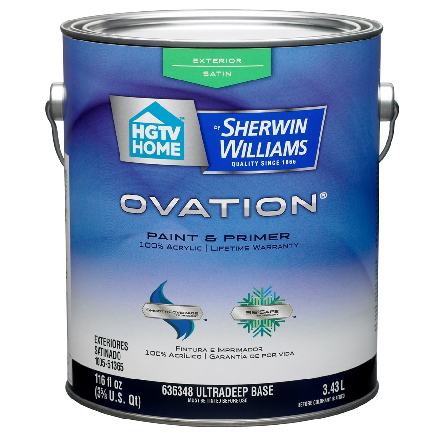 HGTV HOME by Sherwin-Williams Ovation Tintable Satin Latex Exterior Paint (Actual Net Contents: 116-fl oz)