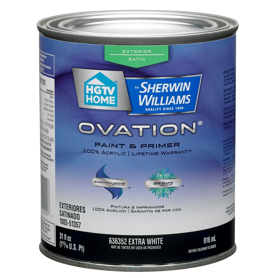 HGTV HOME by Sherwin-Williams Ovation Tintable Satin Latex Exterior Paint (Actual Net Contents: 31-fl oz)