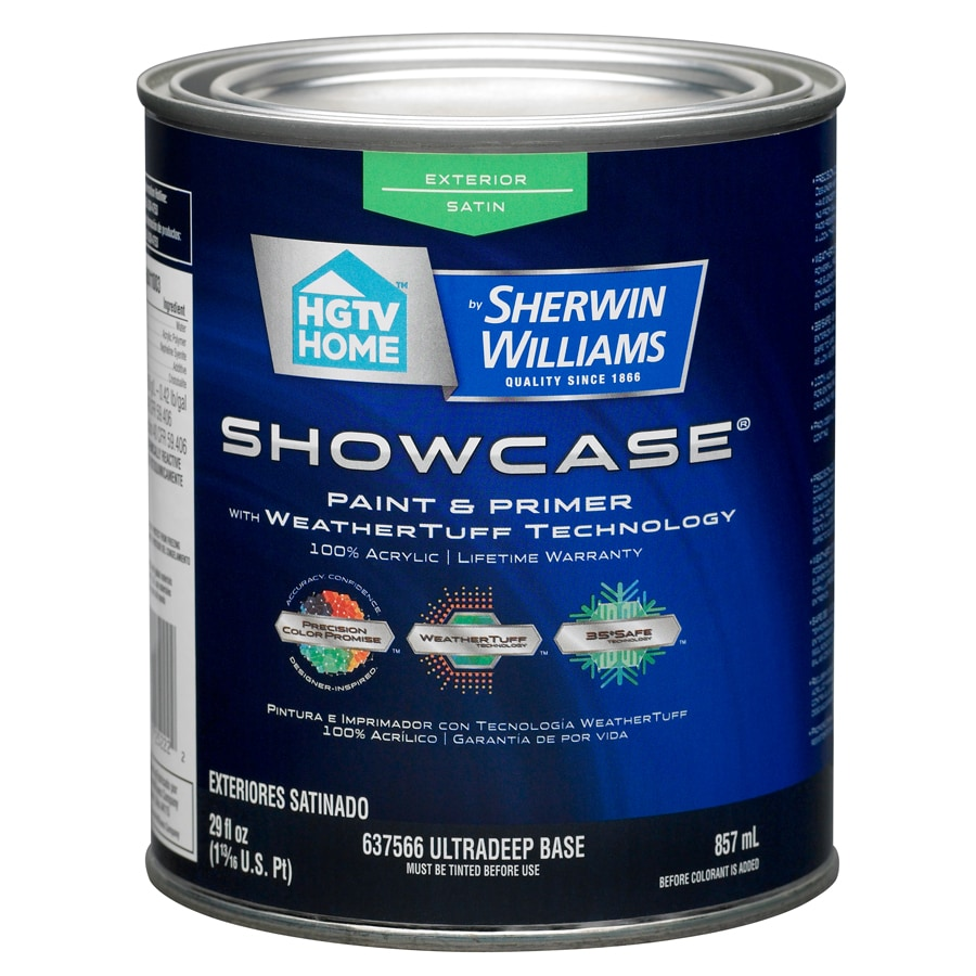 HGTV HOME by Sherwin-Williams Showcase Tintable Satin Latex Exterior Paint (Actual Net Contents: 29-fl oz)
