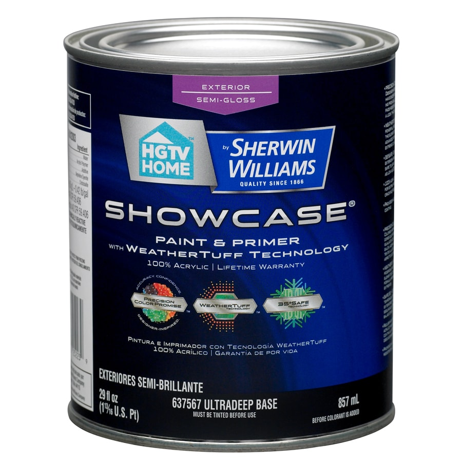 HGTV HOME by Sherwin-Williams Showcase Tintable Semi-Gloss Latex Exterior Paint (Actual Net Contents: 29-fl oz)