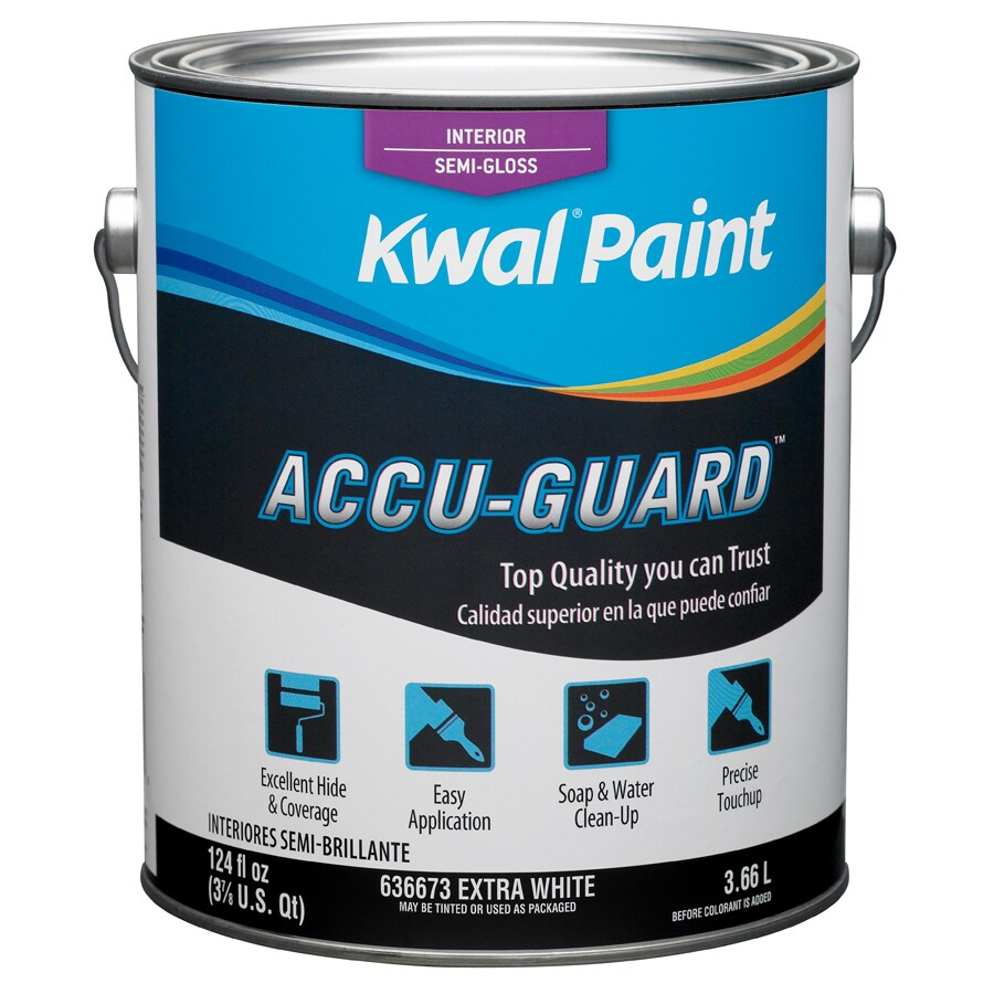 Shop Kwal White Semi Gloss Latex Interior Paint Actual Net Contents 124 Fl Oz At