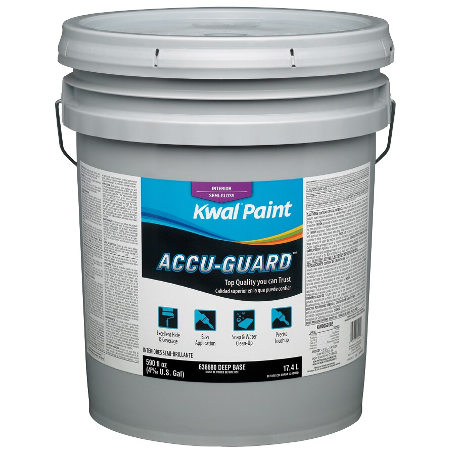 Kwal Tintable Semi-Gloss Latex Interior Paint (Actual Net Contents: 590-fl oz)