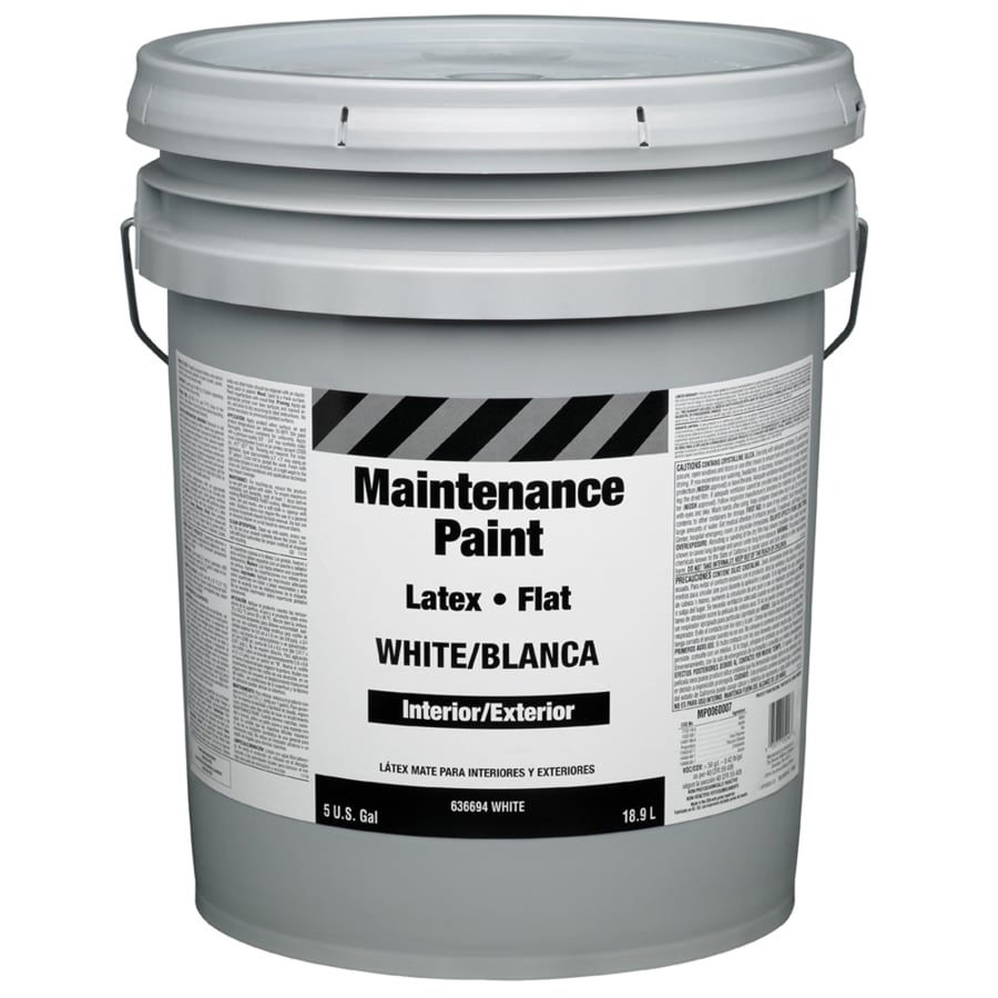 Property Advantage Maintenance 5g I/E White Flat Latex Interior/Exterior Paint (Actual Net Contents: 640-fl oz)