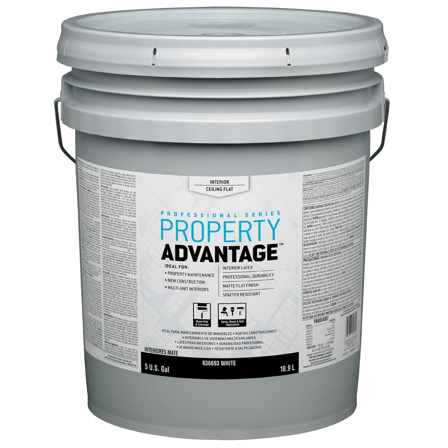 Property Advantage White Flat Latex Interior Paint (Actual Net Contents: 640-fl oz)