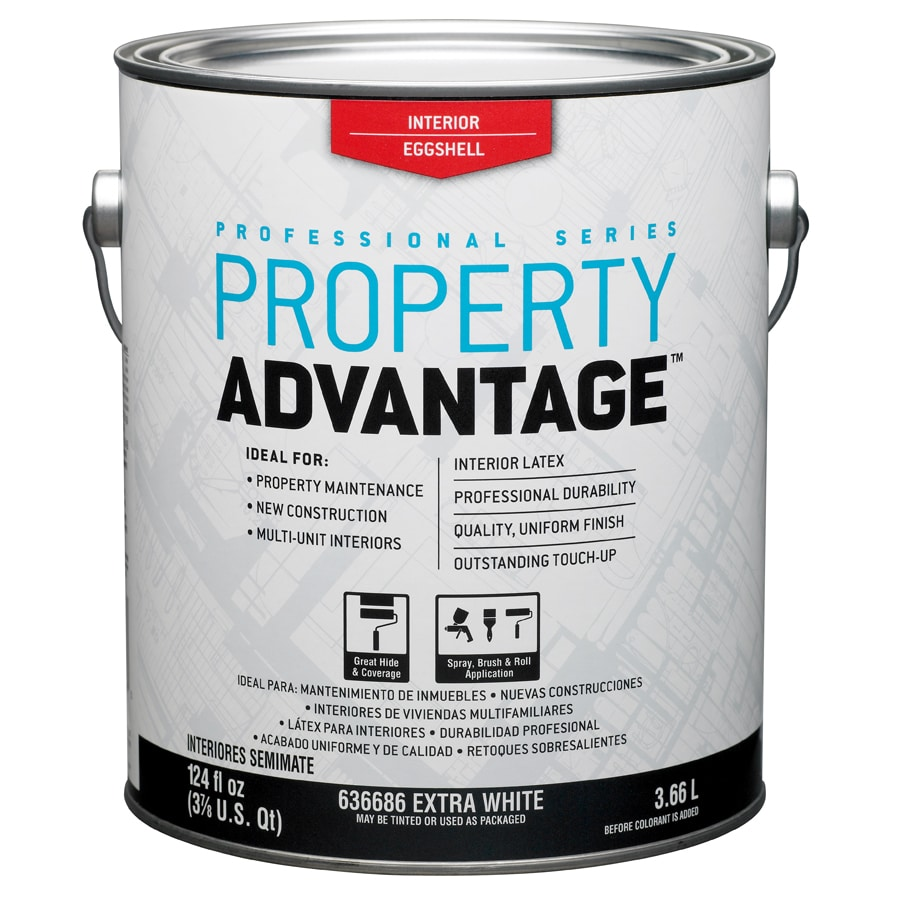 Property Advantage White Eggshell Latex Interior Paint (Actual Net Contents: 124-fl oz)