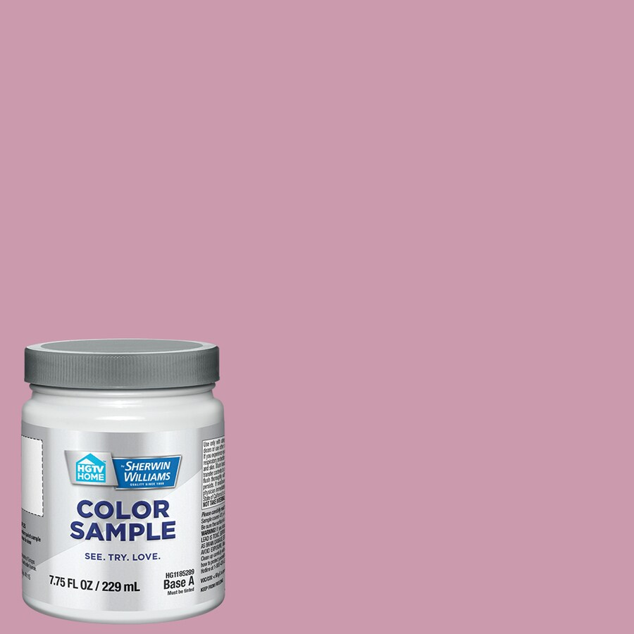 Hgtv Home By Sherwin Williams Rosee Pink Interior Paint Sample Actual Net Contents 8 Fl Oz