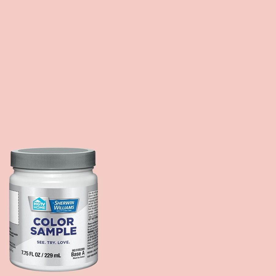 HGTV HOME by Sherwin-Williams Coral Perfection Interior Eggshell Paint  Sample (Actual Net Contents