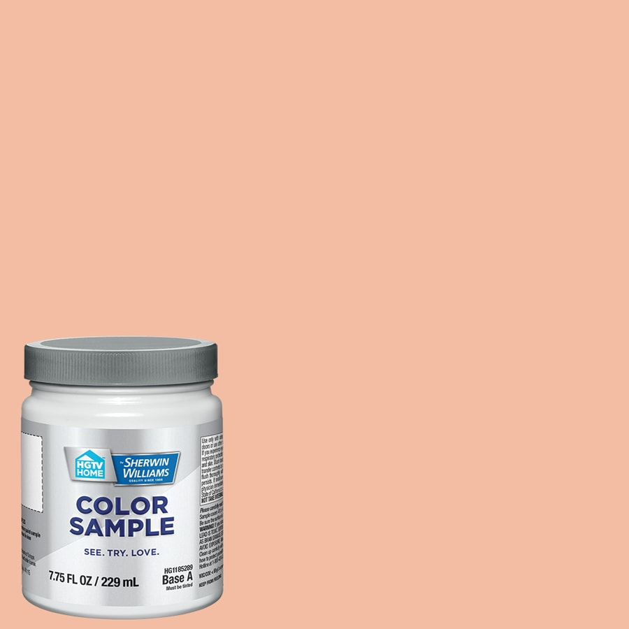Hgtv Home By Sherwin Williams Wild Salmon Interior Paint Sample Actual Net Contents 8 Fl Oz