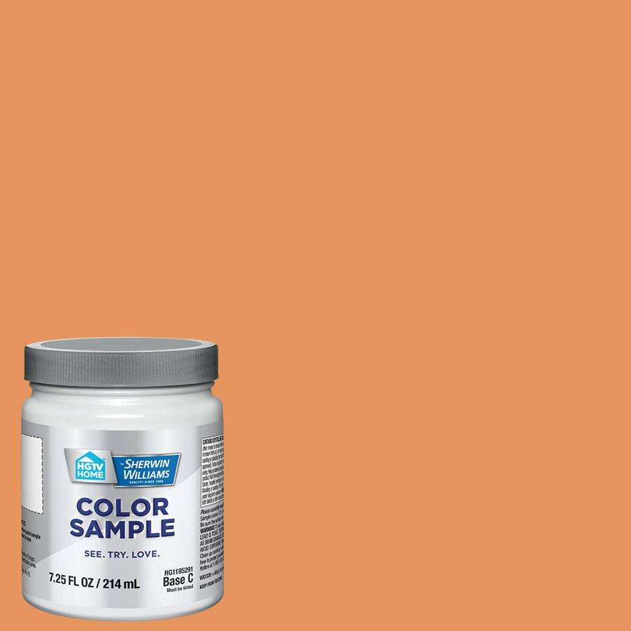 HGTV HOME By Sherwin Williams Outgoing Orange Interior Paint Sample (Actual  Net Contents: