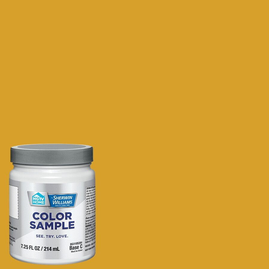Hgtv Home By Sherwin Williams Gold Market Interior Paint Sample Actual Net Contents