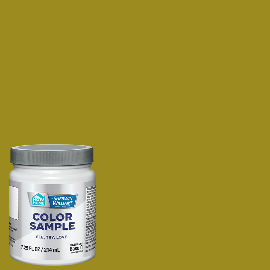 Hgtv Home By Sherwin Williams Aloe And Green Tea Interior Paint Sample Actual Net