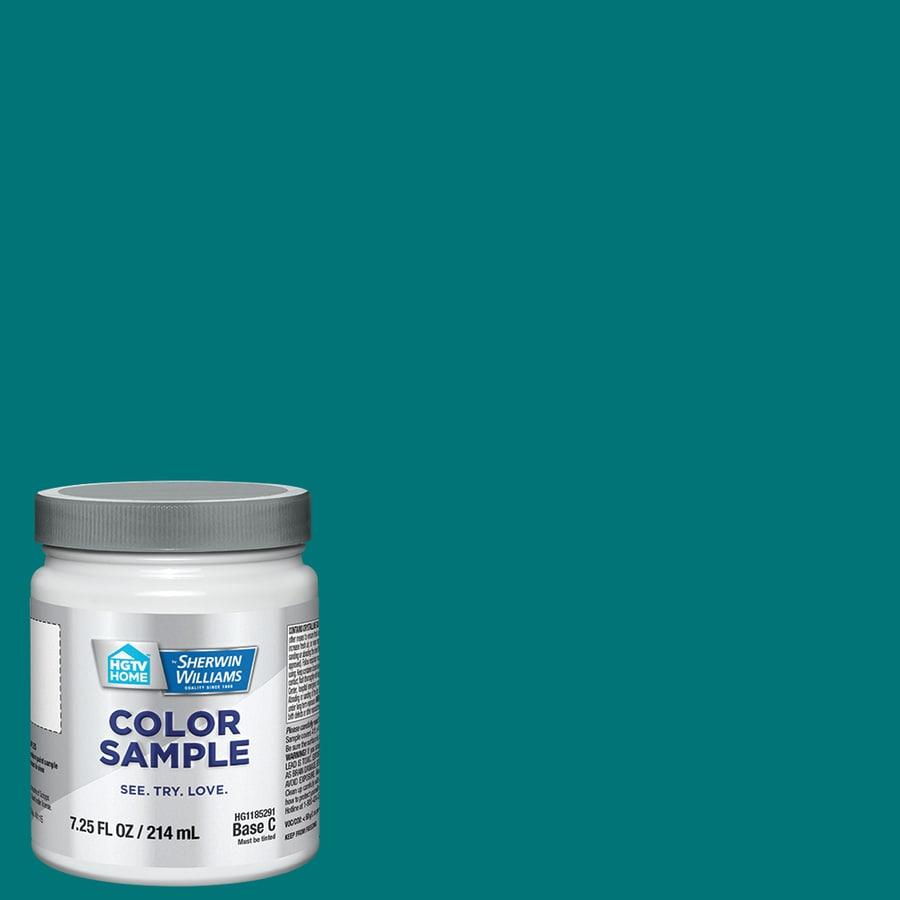 Hgtv Home By Sherwin Williams Deep Blue Ocean Interior Paint Sample Actual Net Contents 8 Fl Oz